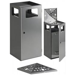 Tête perforée pour poubelle cendrier carrée