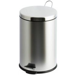 Lot de 2 poubelles à pédale inox brillant 12 litres
