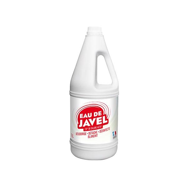 Lot de 15 flacons 1l d'eau de javel 2,6%