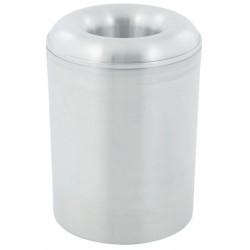 Corbeille à papier anti-feu ronde aluminium 20 litres