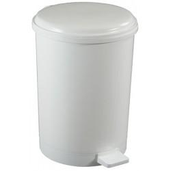 Poubelle à pédale ronde polypropylène blanc 40 L