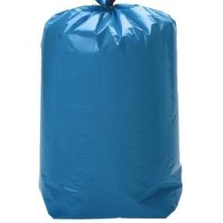 Sacs poubelle bleus 30L à lien coulissant qualité plus 30 microns (le carton de 100)