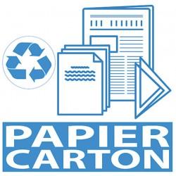 Autocollant tri sélectif Papier Carton 20 x 20 cm