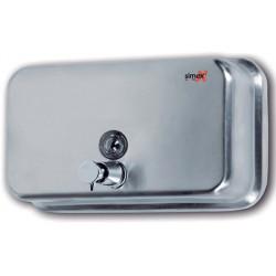 Distributeur de savon horizontal 1200 ml inox brillant