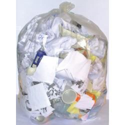 Sacs poubelle 130L transparents renforcés 35 microns (le carton de 200)