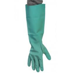 Gant de plonge nitrile vert longueur 455mm (le carton de 72 paires)