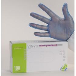 Gant d'examen vinyle bleu AQL 1,5 qualité médicale (le carton de 1000)