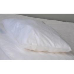 Carton de 200 taies d'oreiller PLP 25g blanc 50x70+10 cm