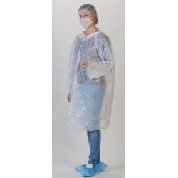 Kit visiteur avec blouse charlotte masque papier surchaussures (le carton de 100), taille unique