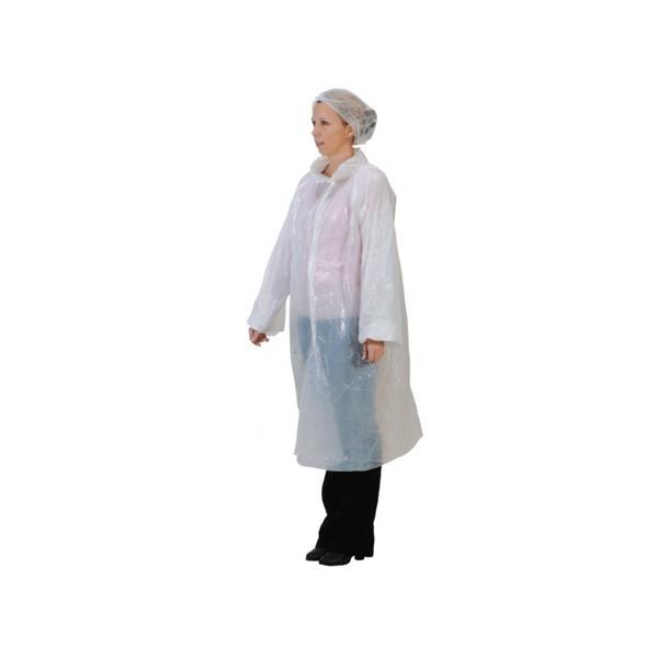 Blouse visiteur pe blanche (le carton de 100), taille unique