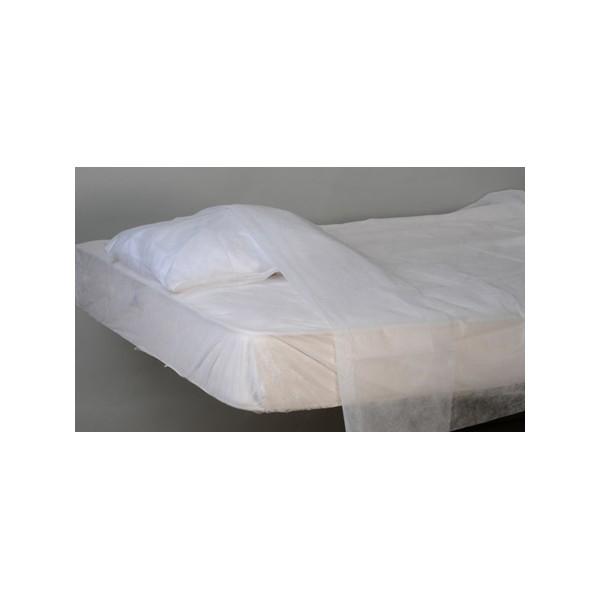 Carton de 100 draps du dessus PLP 25g blanc 240x160 cm