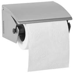 Distributeur papier hygiénique 1 rouleau gris métal