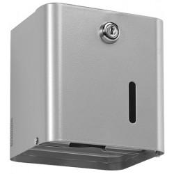 Distributeur papier hygiénique 2 paquets ou 1 rouleau gris métal