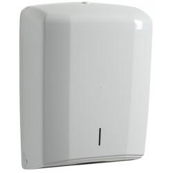 Distributeur essuie-mains 400 feuilles ABS blanc
