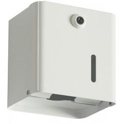 Distributeur papier hygiénique 2 paquets ou 1 rouleau métal blanc