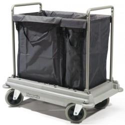 Chariot de transport et de tri du linge 2 sacs de 100 et 200L