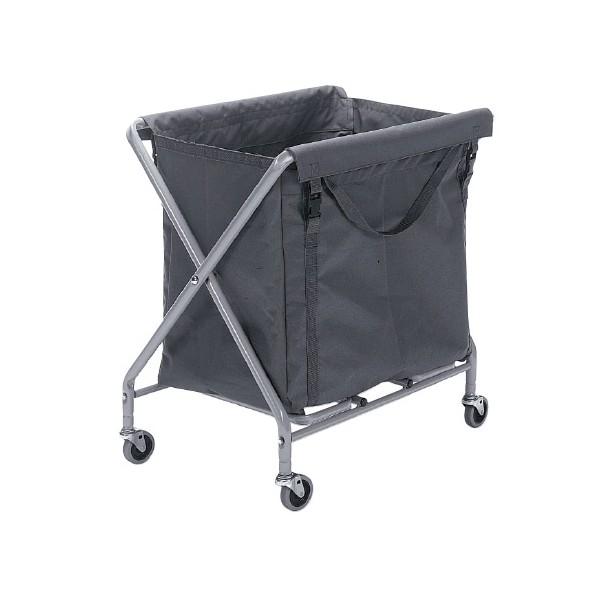 Chariot à linge en X pliable 1 sac de 150L