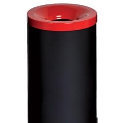 Corbeille antifeu Nina acier 90 l rouge