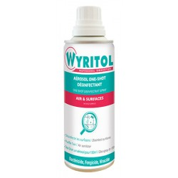 Lot de 12 aerosols 150ml Wyritol desinfectant air et surfaces One Shot