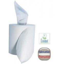 Colis de 6 bobines à dévidage central 450 formats 2 plis lisses 19,4x30 cm blanc