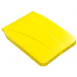 Couvercle jaune pour support 120L pour chariot d'étage Pluton et orion