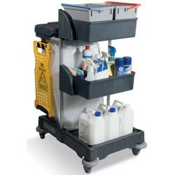 Chariot de ménage compact avec collecteur universel et seaux 2
