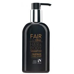 Lot de 24 flacons pompe Fair CosmEthics shampooing corps et cheveux 300 ml