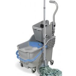 Chariot de lavage compact avec seau à roulette et presse universelle