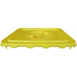Couvercle clip pour futs à déchets 30/50/60L avec obturateur jaune