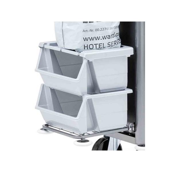 bac de tri des d chets en plastique gris sans couvercle. Black Bedroom Furniture Sets. Home Design Ideas