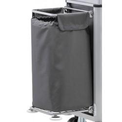 Sac en polyester gris 110L pour chariot Mondial