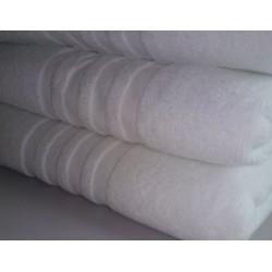 Lot de 12 draps de douche 70x140 cm 100% coton blanc liteaux toile 470g