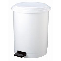 Poubelle à pédale plastique blanc 40 L