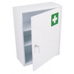 Armoire à pharmacie 1 porte métal blanc