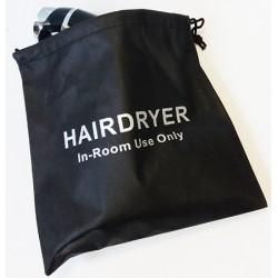 Sac en velours noir pour sèche-cheveux