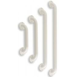 Barre d'appui droite L91,5 cm en acier époxy blanc