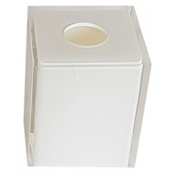 Lot de 12 boites à mouchoirs 13 x 13 x H15 cm résine blanche