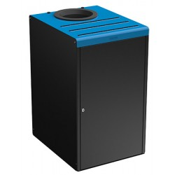 Meuble de tri sélectif 90L pour restauration collective gris et bleu ciel 5015