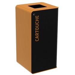 Poubelle de tri sélectif Cube 40L tri cartouches avec serrure