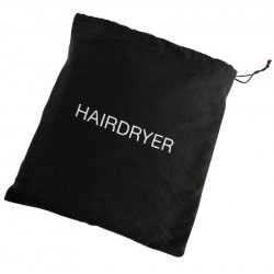 Sac de rangement pour sèche-cheveux avec cordon de serrage