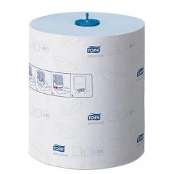 Carton de 6 rlx essuie mains Tork Advanced H1 Ecolabel bleu 2p 150m