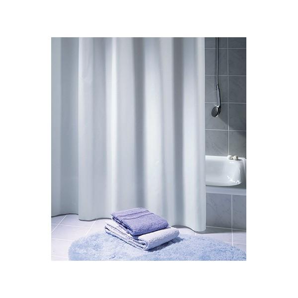 Rideau De Douche Excellence 100 Polyester Hydrofugé Sans Anneaux Blanc L120xh200 Cm