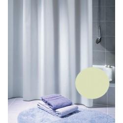 Rideau de douche Excellence 100% polyester hydrofugé sans anneaux champagne L120xH200 cm