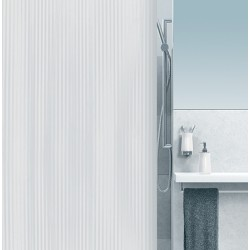 Rideau de douche Excellence 100% PVC imperméable sans anneaux blanc L120xH200 cm