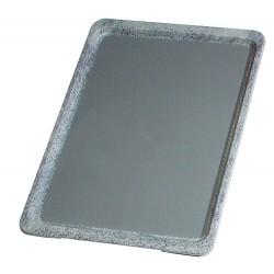 Plateau antiglisse empilable gris L46xL36xH2 cm