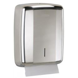 Distributeur ROSSIGNOL d'essuie-mains 400 feuilles inox brilant AISI 304 Design