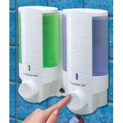 Distributeur de savon 2 réservoirs 300 ml blanc