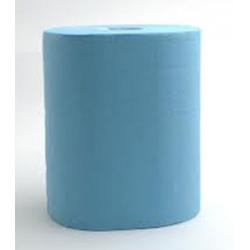 Lot de 6 essuies mains devidage central maxi gaufré bleu