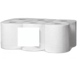 Lot de 6 essuies mains devidage central super maxi gaufré blanc