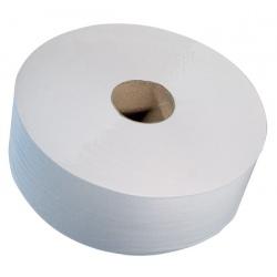 Lot de 6 rouleaux papier toilette maxi jumbo lisse blanc